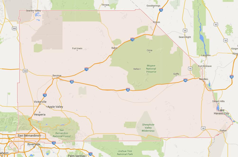 San Bernardino County Appraisal LeeperAppraisal - Map of san bernardino county